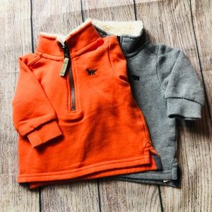 set of 2 baby boy fleece pullovers